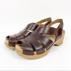 Dansko Brown Wedge Sandals Size 37